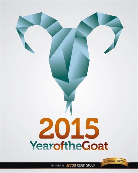 new year 2015 goat happy new year 2015 goat greeting card vector free