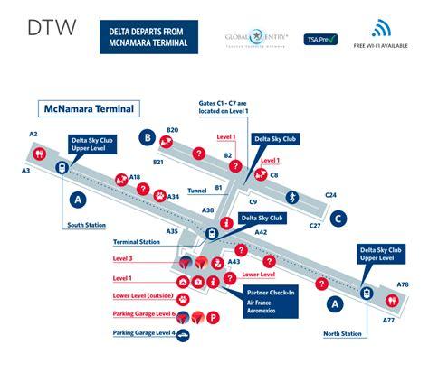 wayne airport map detroit metro wayne county airport terminal map dtw