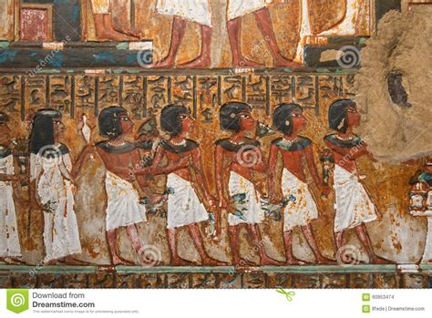 Egyptian Wall Mural ancient egyptian mural painting stock photo image of