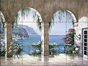 Wall Murals Amazon Mediterranean Arch By Sung Kim Tile Mural For Kitchen