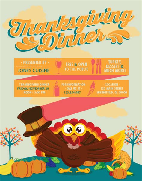 thanksgiving flyer template free a template cornucopia free illustrator photoshop ilustrator tutorial