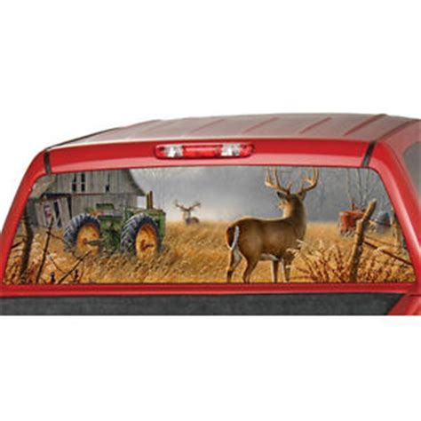 Sunset Wall Murals farm deer window graphic tint decal sticker truck tractor