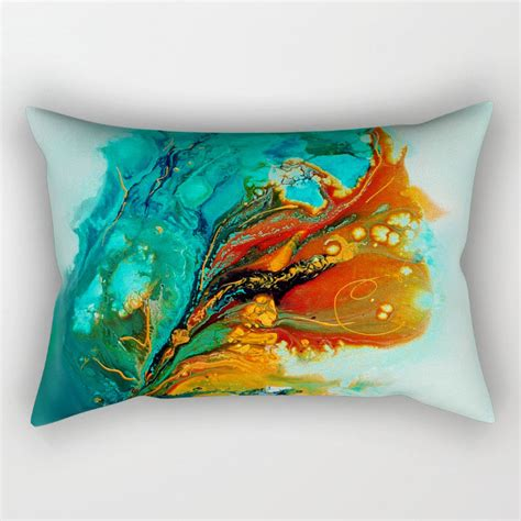 teal and orange decorative pillows turquoise pillow teal pillow orange pillow lumbar pillow