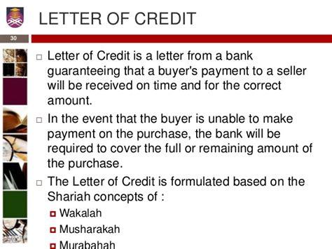 Letter Of Credit Wakalah fundamental of islamic banking application of funds