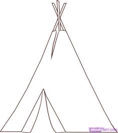 how to draw a teepee step by step buildings landmarks