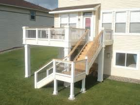 Second Floor Deck Plans second floor deck stairs how to build a deck step by