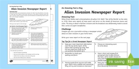 Writing A News Report Template