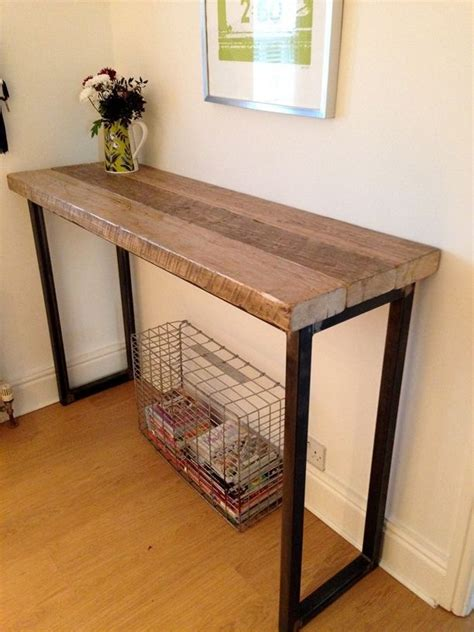 Breakfast Bar Table Industrial Mill Reclaimed Wood Breakfast Bar Console Table For Library Sofa Mixing