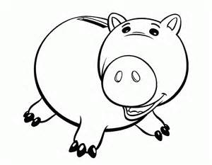 free coloring pages toy story pig