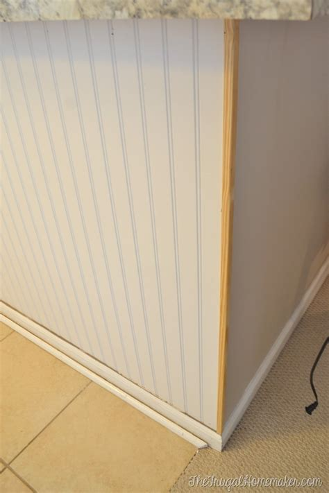 how to finish wainscoting corners how to install a diy beadboard backsplash kitchen makeover