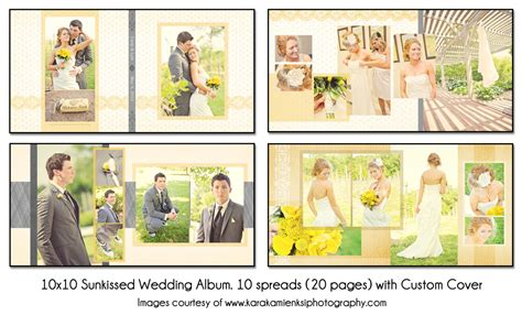 psd wedding album template sunkissed 10x10 10spread 20