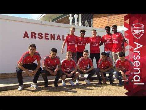arsenal academy inside the arsenal academy a scholar s first day youtube