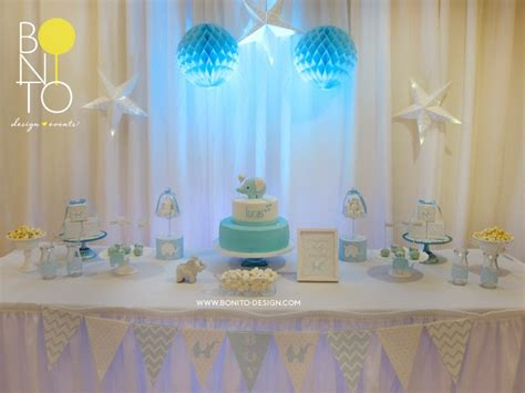 Baby Boy Elephant Themed Baby Shower by Bonito Design Helen Guzman Elephant Themed Baby