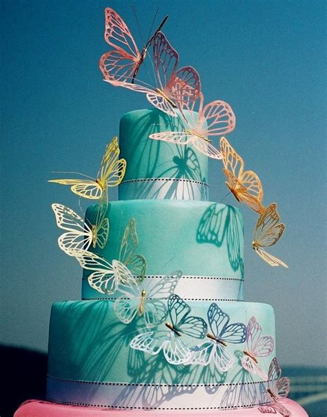 top 5 butterfly wedding invitations and wedding cakes