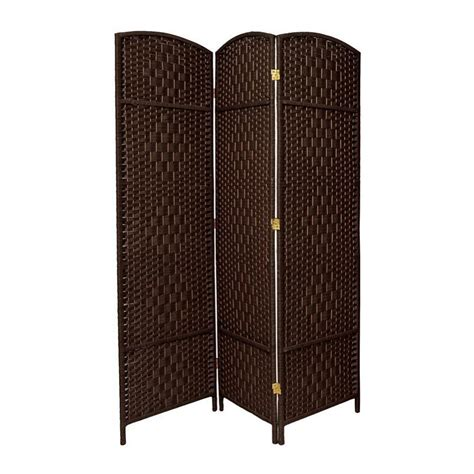 Indoor Privacy Screen Living Room Furniture Shop Furniture Room Dividers 3 Panel Mocha