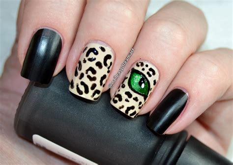 nail art matte tutorial matte leopard print cats eye nail art tutorial