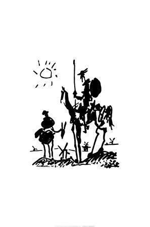 Don Quixote, c.1955 Art Print by Pablo Picasso at Art.com