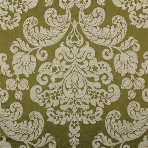 Silk Damask Upholstery Fabric by Traditional Woven Real Silk Cotton Blend Jacquard