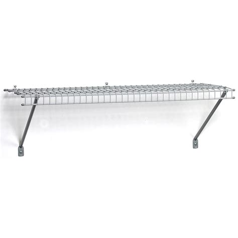 shop closetmaid 4 ft l x 16 in d gray wire shelf at lowes com