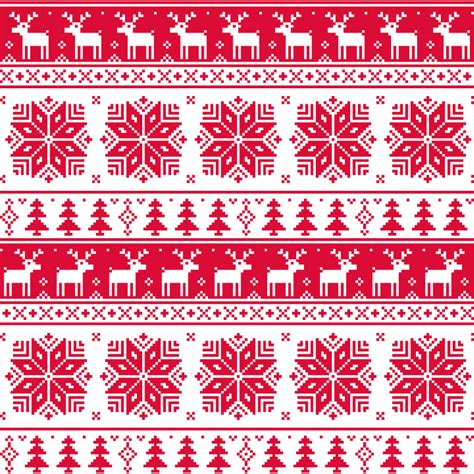 free xmas background pattern red christmas knitting pattern background vector free