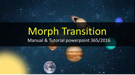 tutorial on powerpoint 2016 tutorial using morph transition effect animation in