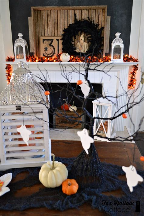 10 enchanting halloween decoration ideas boo a halloween mantel at the cottage fox hollow cottage