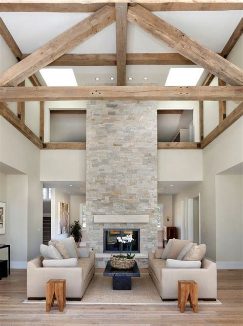 fabulous floor to ceiling stacked stone fireplace design best 25 modern stone fireplace ideas on pinterest