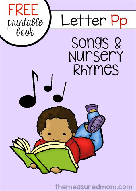 Letter P Songs & Rhymes (free book!)   The Measured Mom