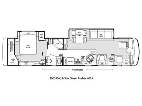 dutch star rv floor plans 2003 newmar dutch star 4005 photos details brochure