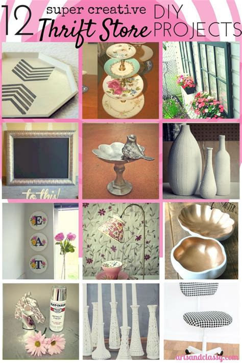 12 creative thrift store diy decor projects