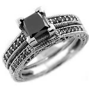 black diamond wedding sets