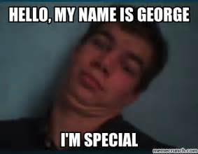 George Meme - hello my name is george