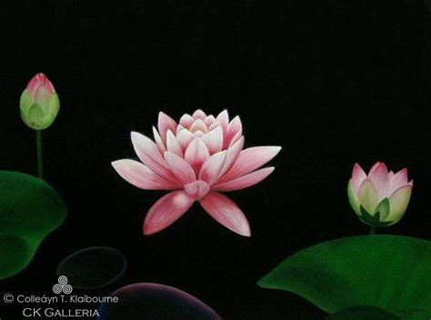 image gallery lotus painting