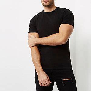 Longline T Shirt Raglan Suede Black And Brown plain t shirts basic white black coloured t shirts