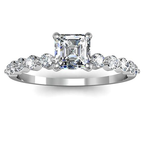 asscher cut engagement ring engagement