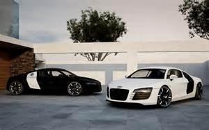 audi r8 black white cars