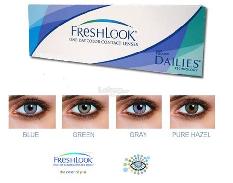 Sale Freshlook Exp 2018 01 Green 075 1 Freshlook One Day Color Contact Lens End 7 25 2018 4 15 Pm