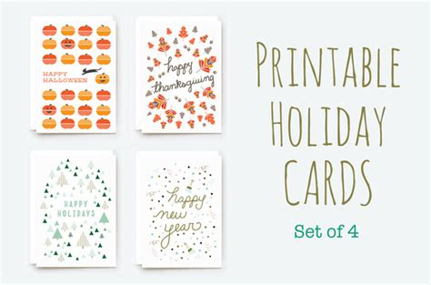 Holiday Gift Card Template - printable winter holiday cards card templates on creative market