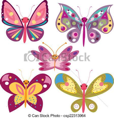 imagenes de kitty mariposa clip art de vectores de kawaii mariposas es un eps