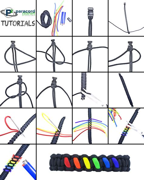 printable paracord instructions rainbow paracord bracelet tutorial paracord tutorials