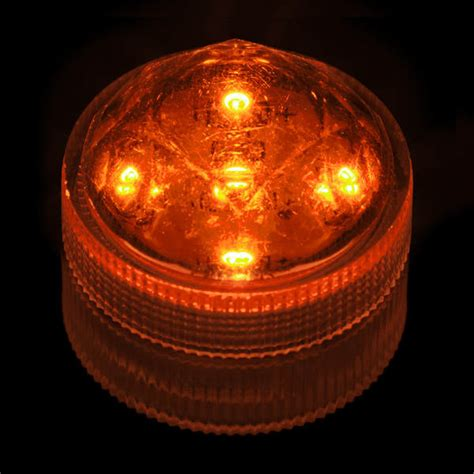 orange led lights orange submersible five led light