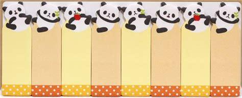 printable panda bookmark cute panda bears bookmark stickers post it with bamboo