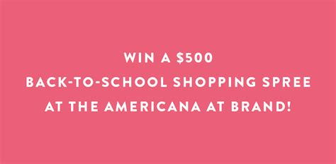 Life Style Sweepstakes - school of style sweepstakes the americana at brand