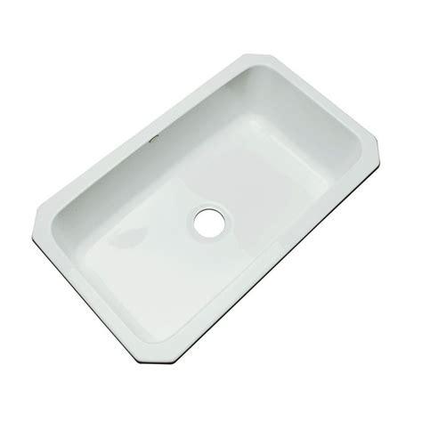 Gray Kitchen Sink Thermocast Manhattan Undermount Acrylic 33 In Single Basin Kitchen Sink In Grey 48080 Um