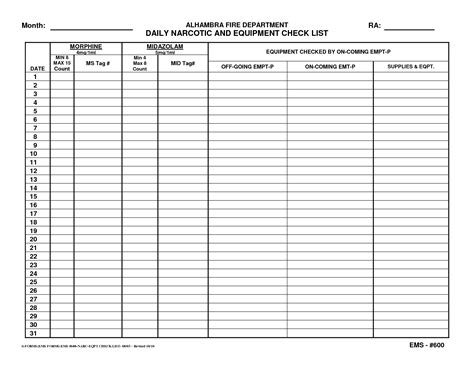 controlled substance count sheet template foto bugil