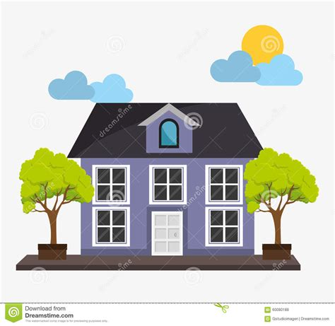 real estate home stock vector image 60080188
