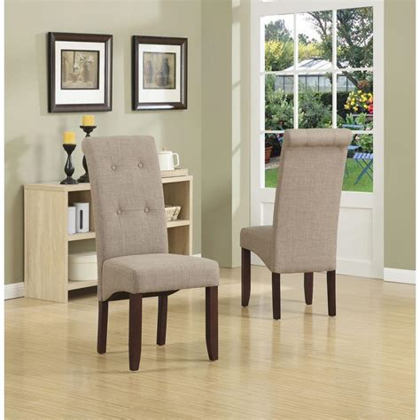 simpli home cosmopolitan 7 light mocha dining set simpli home cosmopolitan light mocha parsons dining chair set of 2 ws5109 4 lml the home depot