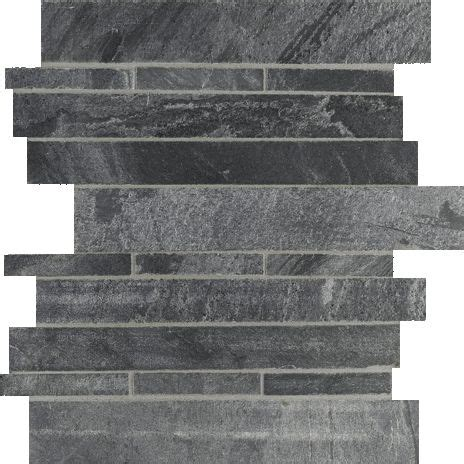 grey ostrich slate quartzite honed stacked stone mesh tile