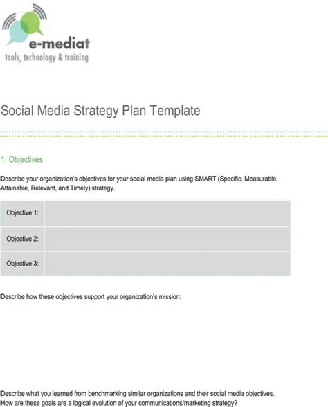 download social media strategy template for free page 4