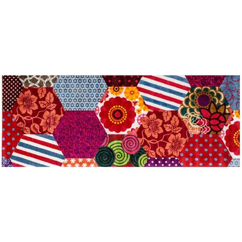 trendy patchwork mat 70 x 190 cm from the mat factory
